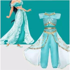 kostum princess jasmine aladin / dress princess / baju princess