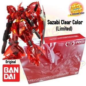 Rg Bandai Sazabi Clear Color Gundam Base Limited ori Bandai