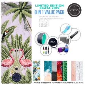 Value Pack Yoga Mat / Matras Yoga Ekata 8 in 1 Limited Edition