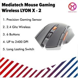 Mediatech Wireless Mouse Gaming LYON X2 - Grey