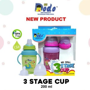 Botol Minum 3 Stage Cup New Produk Dodo 200ml