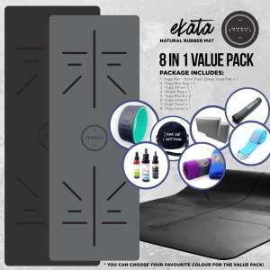 Yoga Mat / Matras Yoga Ekata Value Pack 8 in 1