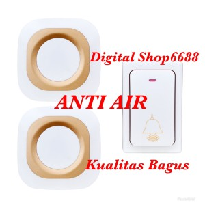 Bel Pintu Anti Air Bell Pintu Pagar Rumah Wireless Waterproo 2Receiver