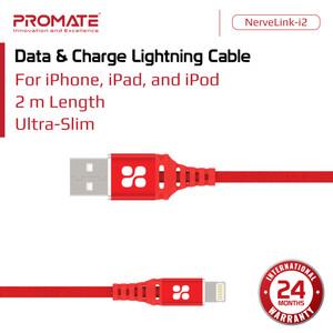 Promate Kabel Data iPhone 2m Slim - NerveLink-i2 Lightning Charger