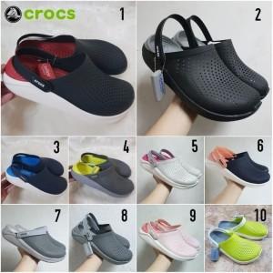 Sandal Crocs literide Clog pria/Sandal Crocs/Literide