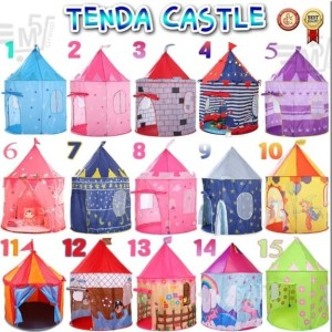 Tenda castle jumbo tenda rumah mainan anak besar istana mainan outdo