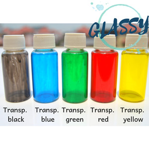 Cat Kaca Transparan - Glass Paint | merek GLASSY - bukan cat vitrail