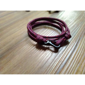 GELANG PRIA TALI PARACORD TALI PRUSIK LOOP STYLE WITH CLIP 02
