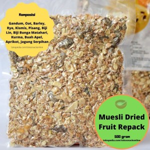 Muesli Dried Fruit 500 gram Repack