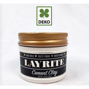 Pomade Cement Clay LAYRITE - High Hold / Matte Finish / Water Soluble