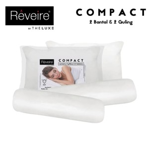 Paket Bantal & Guling reveire Compact 2 pillow & 2 Bolster
