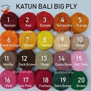 Benang Katun Bali Ply Besar (Big Ply)