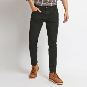 MENTLI Celana Jeans Skinny Pria - Solid Black