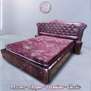 Kasur Glamour Bernuansa Mewah dan Classic Tempat Kamar Tidur Anda  RED