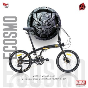 Sepeda Lipat 20 Element eCosmo Z8 Black Panther Avangers