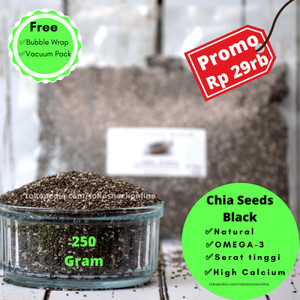 Chia Seeds Black 250 gram Natural Original From Peru