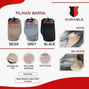 DURABLE Karpet Karet PVC Universal Sambung 3pcs