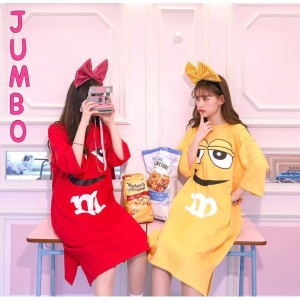 DAMAI FASHION - baju dress JUMBO wanita M&M - konveksi murah