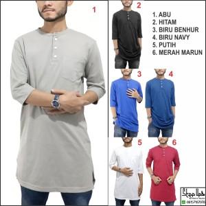 Baju Muslim/ Kurta Kaos Polos/ Baju Koko Pria/ Gamis Pakistan