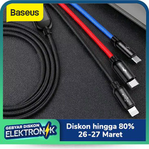 KABEL DATA BASEUS PRIMARY COLORS 3IN1 MICRO+LIGHTNING+TYPE-C 3.5A 1.2M