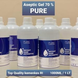 PURE hand sanitizer ASEPTIC GEl ONEMED 1 liter / 1000ML