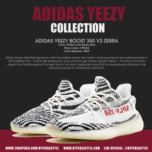 Jual Sepatu Adidas Yeezy Boost 350 V2 Zebra Adidas Indonesia Original 6 5 Jakarta Selatan Hypebeastyle Tokopedia
