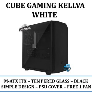 Jual Casing Pc Cube Gaming Kellva Black M Atx Tempered Glass Jakarta Pusat Das Livia Computer Tokopedia