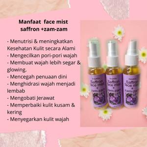 Jual Face Mist Saffron Air Zam Zam 60 Ml Kab Bandung Humairaaah Tokopedia