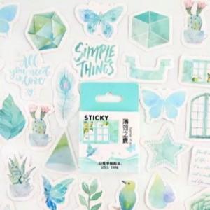Jual Aesthetic Tosca Sticker Kota Depok Folderstuff Tokopedia
