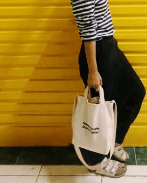 HAPPY PEOPLE SHINE BRIGHTER girls tote