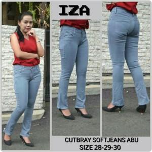 Celana Jeans Cutbray Abu Cewek