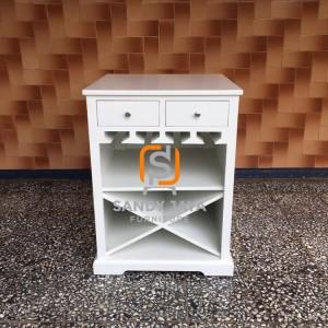 Minibar minimalis duco - cabinet 2 laci - nakas minimalis 2 laci
