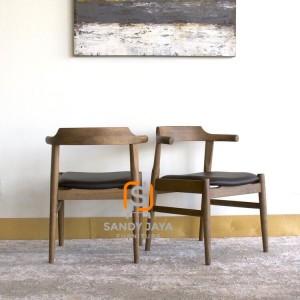 Kursi resto jati - kursi resto scandinavian - kursi makan jati solid