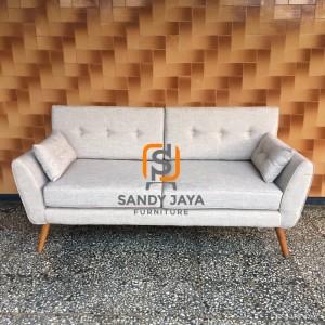 Sofa retro paloma canvas - sofa 2 seaters - sofa minimalis jati