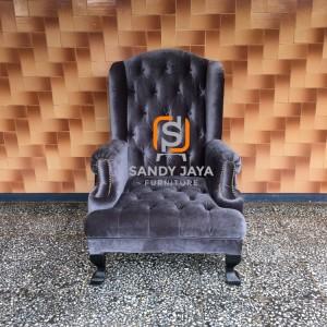 Wing chair shabby - arm chair - kursi sofa single - sofa santai