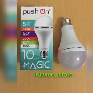 Lampu bohlam LED push on 10 watt