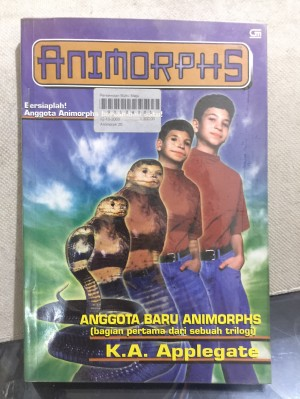 Novel Animorphs no 20:Anggota Baru Animophs; K A Applegate; GM