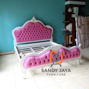 Tempat tidur mewah duco - tempat tidur klasik pink baby - ranjang