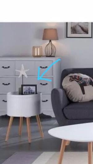 Order custom meja storage samping sofa ibu diba