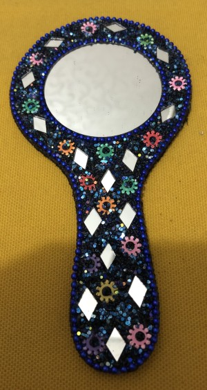 Cermin Mini Singapore Blue