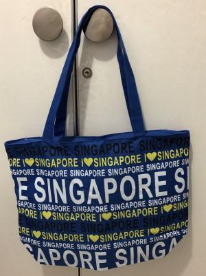 Tas Fashion Tote Bag Singapore Biru