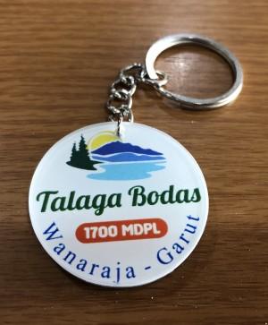 Gantungan Kunci Talaga Bodas - bulat