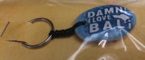 Gantungan Kunci Hiasan Batu Damn I Love Bali