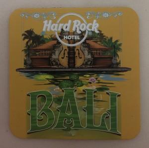Alas Gelas (Coaster) / Tatakan Gelas Hard Rock Hotel Bali warna Kuning