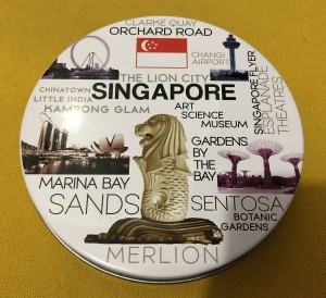 Alas Gelas (Coaster)/Tatakan Gelas Souvenir Singapore
