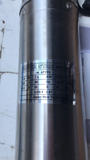 Pompa air submersible 4Dim 2Hp 220Volt superstar 3-25 stainless