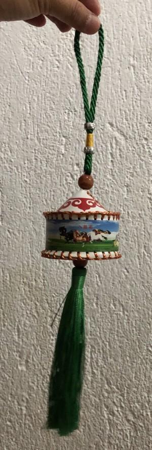 Souvenir Hiasan Gantungan Rumah Mongolia putih