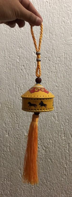 Souvenir Hiasan Gantungan Rumah Mongolia kuning