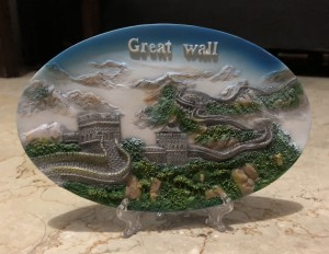 Piring pajangan souvenir Great Wall Beijing China
