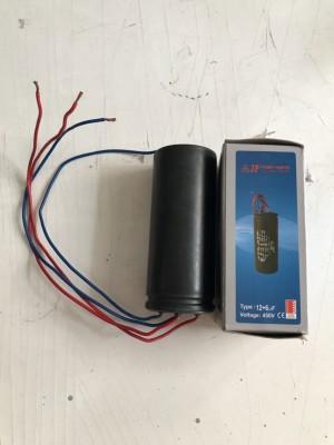 Kapasitor Mesin Cuci JP 12+6 mikro F voltage 450 V